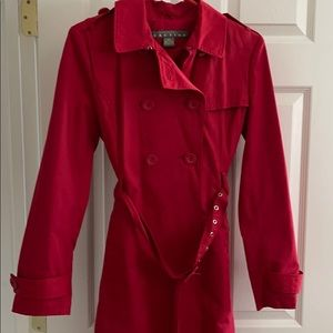 Red mid length jacket